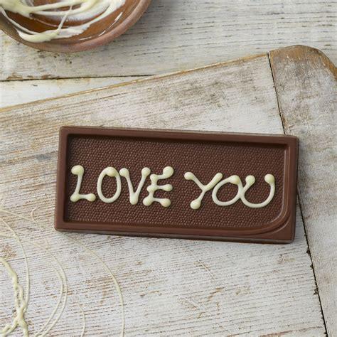 personalised milk chocolate gift tag personalised