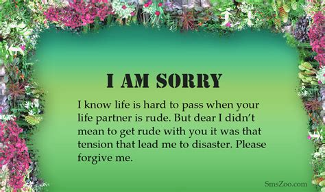 Apology Letter To Boyfriend For Being Moody i am sorry messages for husband sms