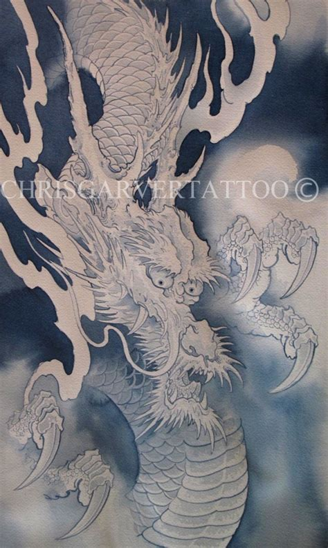 chris garver dragon painting tattoos pinterest
