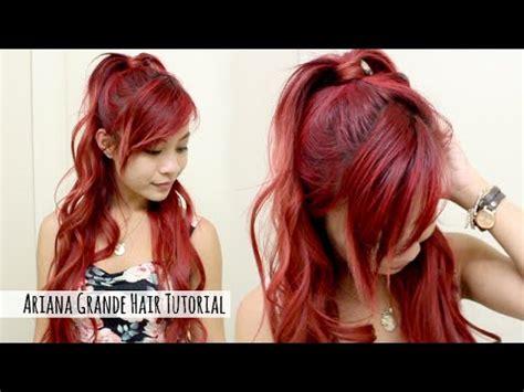 x3haha hairstyles ariana grande hairstyle tutorial l ariana grande half up