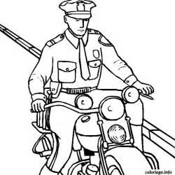 coloriage moto police dessin