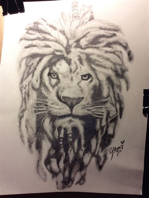 lion with dreads tattoo comissioned project with dreads my doodles