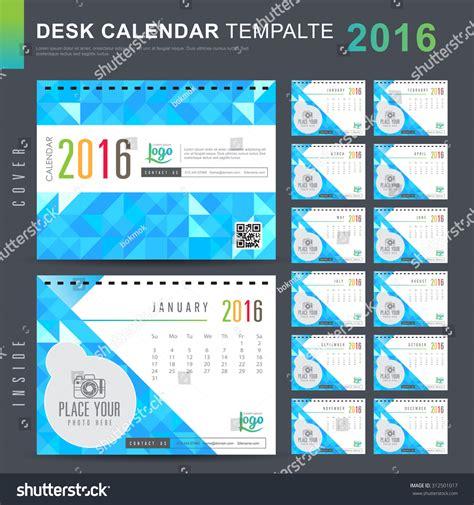 calendar design pattern desk calendar 2016 vector design template stock vector