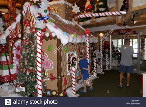 bonnars christmas trees a child looks inside a house at bonners store in stock photo 20801812 alamy