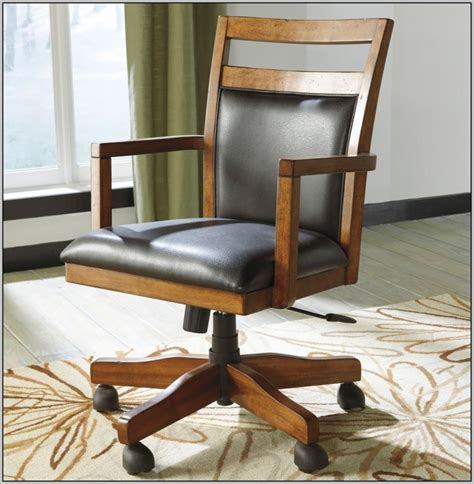 wooden desk chair without wheels wooden desk chair on wheels chairs post id hash