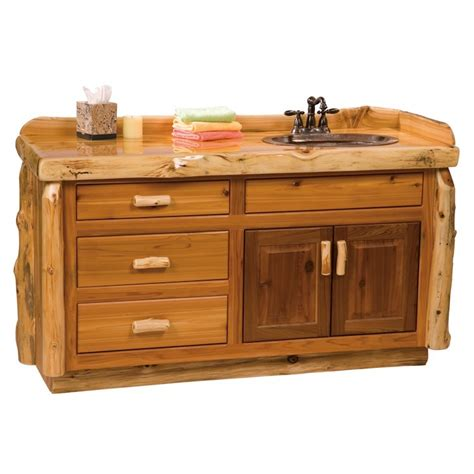 Log Vanity 5 Foot Log Bathroom Vanity