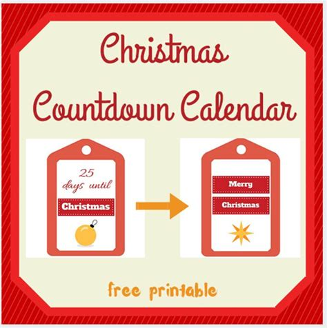 Countdown Calendar Printable Countdown Calendar Free Printable Keeping It Real