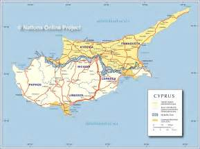 map of cypress political map of cyprus nations project