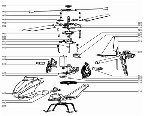 rc helicopter parts diagram mjx f series f46 shuttle rc helicopter spare parts