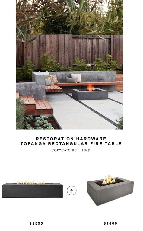 restoration hardware fire table copy cat chic luxe living for less