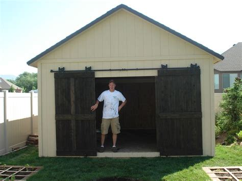 Shed With Our Double Sliding Doors For Exterior Use You Outdoor Barn Doors