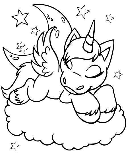 Coloring Pages Of Baby Unicorns | free coloring pages of unicorn and rainbow printable