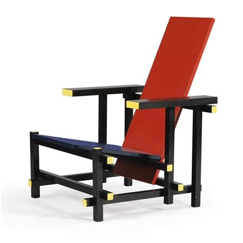 red and blue armchair gerrit rietveld an oak steltman chair 1963