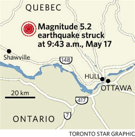earthquake ottawa earthquake 5 2 quake felt in toronto began in ottawa