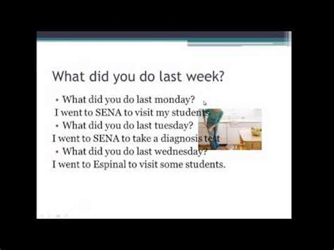 What Did You Last by What Did You Do Last Week