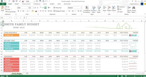 excel 2013 budget template family budget templates calendar template 2016