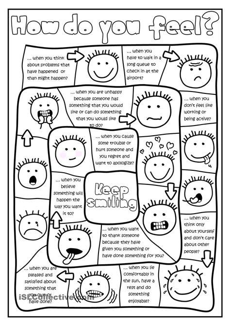 How do you feel? - board game worksheet - Free ESL