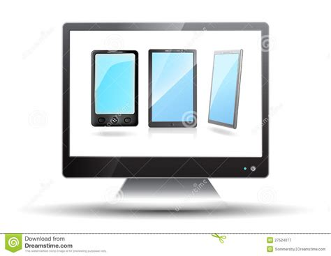 free tv on mobile flat screen tv with mobile phones royalty free stock