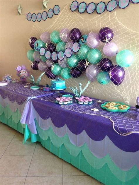 mermaid theme decorations awesome balloon decorations 2017