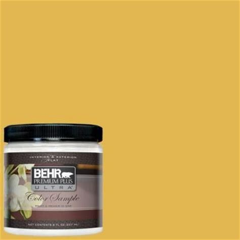 behr premium plus ultra paint 8 oz 360d 6 yellow gold interior ext