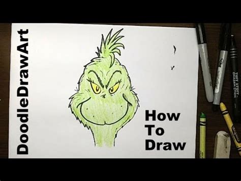 how to draw grinch youtube how to draw the grinch step by step youtube