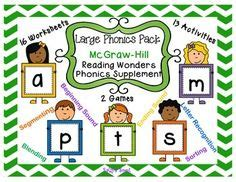 supplement 3 letters phonics pack 1 mcgraw hill reading wonders supplement