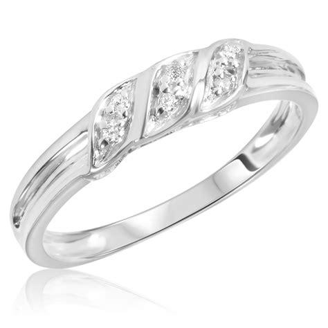 1 15 carat t w s wedding ring 14k white