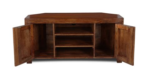 DAKOTA DARK MANGO WOOD CORNER TV UNIT (45N) 5060312351509