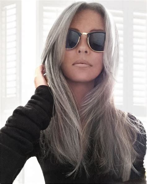 looking with grey hair 17 best images about trend grey hair on pinterest long
