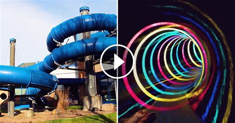 psychedelic water slide complete with led lights is one wild ride fascinately fascinatingly
