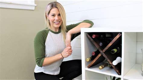kallax wine rack ikea hack wine rack for kallax youtube