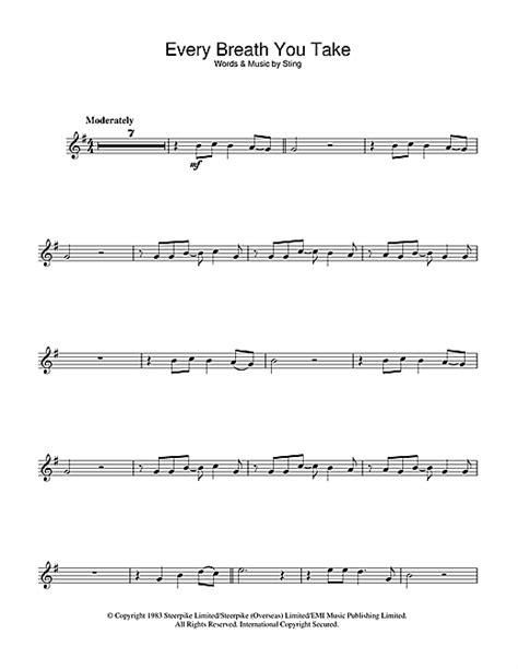 the every breath you take testo every breath you take partituras por the flauta