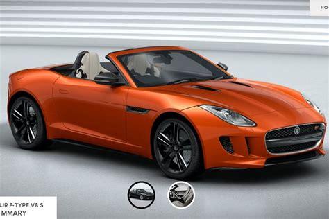 jaguar f type configurator jaguar launches f type configurator motoring news