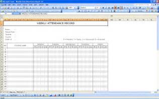 Student Attendance Record Template by Student Attendance Record Excel Templates