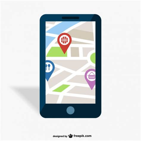 gps for mobile gps mobile app vector free
