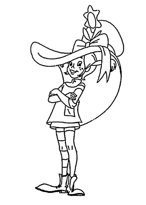 pippi   hat coloring pages  kids printable