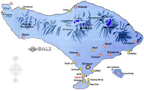 bali island mapdenpasar citybadungtabananjembarana