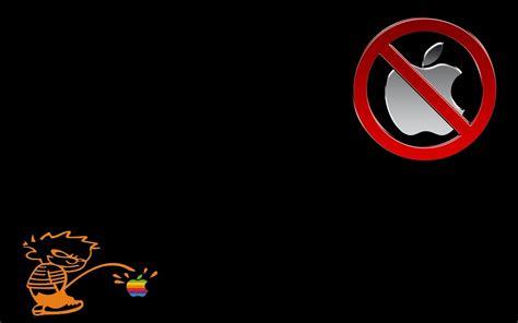wallpaper anti apple anti mac by www nikechristo com desktop wallpaper