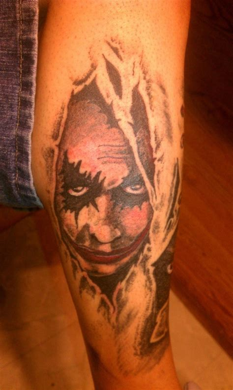 joker themed tattoo joker of zombie tattoo real photo pictures images and
