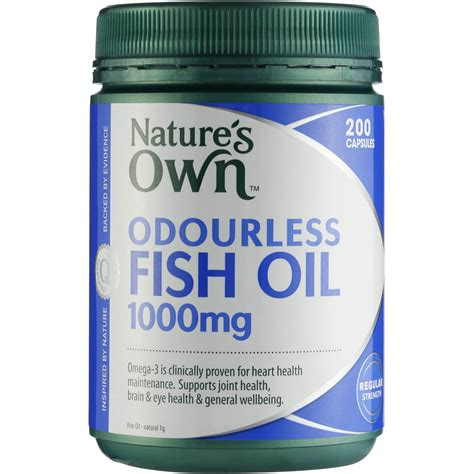 Natures Own Odourless Fish 1000mg 400 Capsules nature s own odourless fish 1000mg capsules 200 woolworths