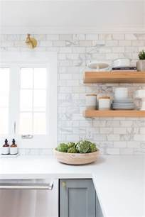 white tile kitchen backsplash emerson project webisode reveal marble subway tiles gray cabinets and subway tiles