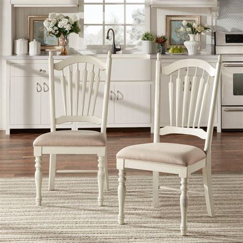 homesullivan margot antique white wood dining chair set