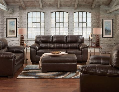 Austin Brown Sofa And Loveseat Leather Living Room Sets Living Room Sets Leather