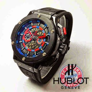 Jam Tangan Pria Hublot Automatic Swiss Made 2 jam tangan hublot bayer munchen black rubber