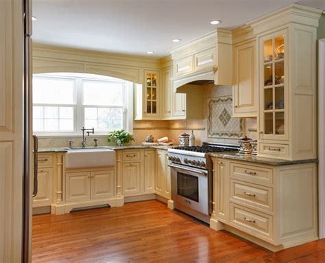 Cabico Cabinets : Transitional White Kitchen with White