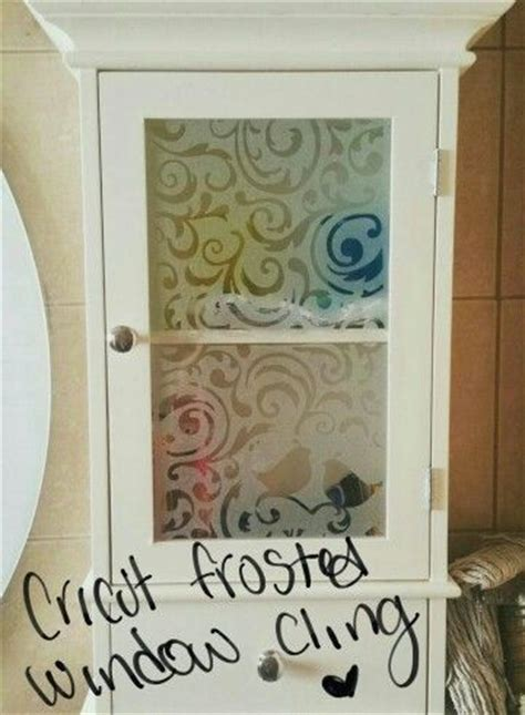 window clings beautiful diy frosted design using cricut frosted window cling cricut project ideas