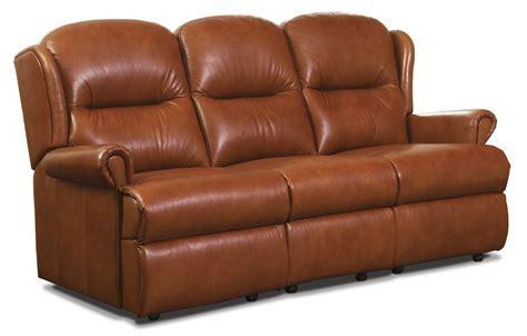 small 3 seater sofa sherborne malvern leather small fixed 3 seater sofa 485
