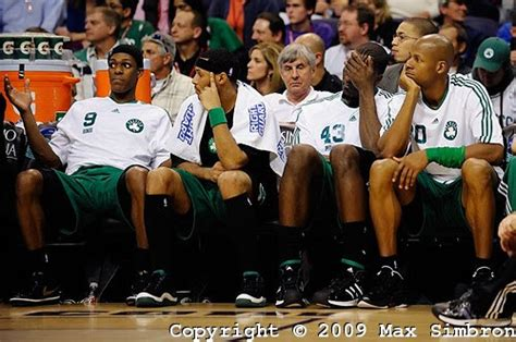 celtics bench game in exclusive pictures suns vs celtics sheed leads