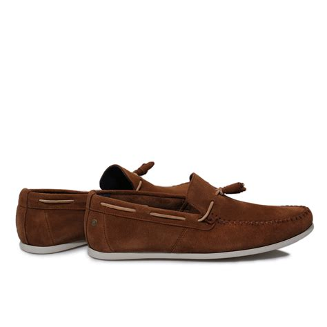 base mens joplin brown suede moccasins deck boat