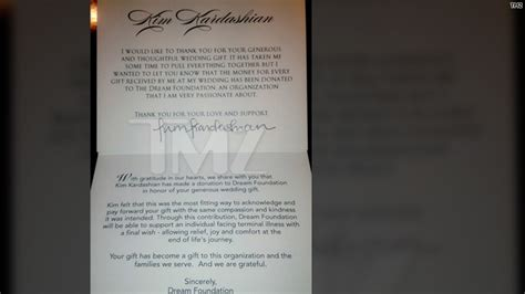 Donation Letter Turner K Donates Wedding Gift Money To Charity Hlntv